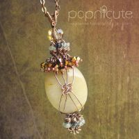 Macrame Copper Necklace by popnicute
