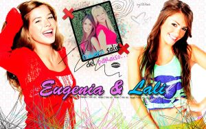 wallpaper eugenia y lali by MyHeartWithJoe