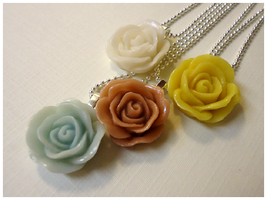 Collection Of Rose Necklaces by cellsdividing