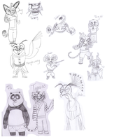 Some Kung Fu Chars by Mimaah