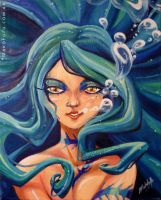 .:Mermaid:. oil on canvas by Mako-Fufu