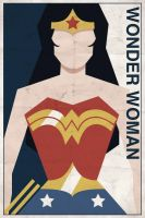 Wonder Woman - Vintage Poster by drawsgood