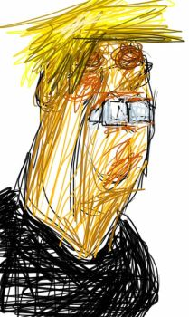 Sketch this Donal Trump by ThreeHornsOne
