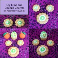 Key Lime_Orange Charms by alternativeicandy