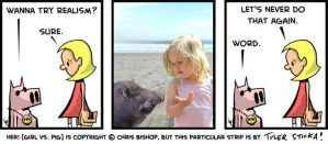 Her ::girl vs pig:: GuestStrip by tylersticka