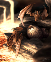 Volcano Dragon Nest by dashase