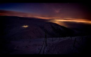 Karkonosze Mountains by night1 by PawelJG