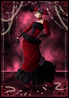 Nights In Red Satin (Collab with marimaripink) by SweetLittleVampire