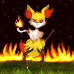 Braixen: A night for toasting marshmallows by kelsea