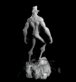 Duck Barbarian 3D side/back by CamaraSketch