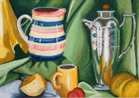 Still Life with Silver Teapot by designsbykari