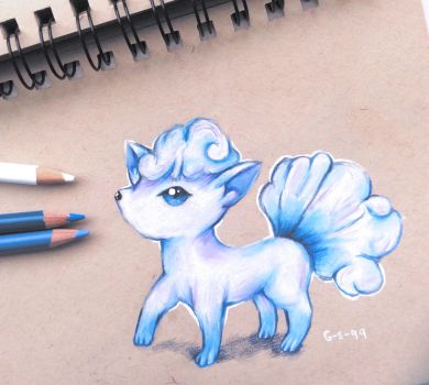 Alolan Vulpix (Raffle Prize for Rebellet) by Galactic-sky-99