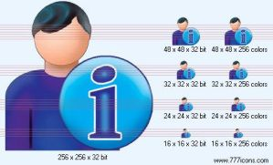 Patient-man info Icon by medical-icon-set