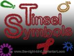 TINSEL SYMBOLS PNG's by the-night-bird