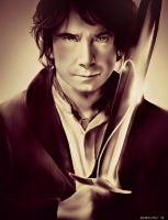 The Hobbit - Bilbo Baggins by geekyglassesartist