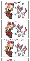 Sylveon High Five by JOSEPHSK