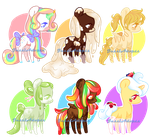 Sugary Sweets Ponies(CLOSED) by JessiAdopts