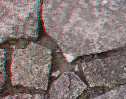 Just rocks - anaglyph by mrkane27