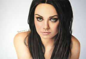 Mila Kunis - colored pencils by Joanna-Vu