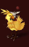 Chocobo and Mog by acetea-san