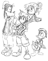 .:Sora and Vanellope-including Goofy and Donald:. by JACKSPICERCHASE