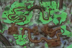 Swamp map by rafaelventura
