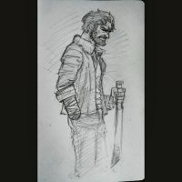 Daily Sketches 002: Rick Grimes by AndrewKwan