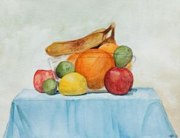Still Life with Fruit by kielymb