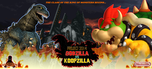 Godzilla vs Koopzilla - NEW Poster by TuffTony