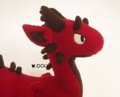 Red Dragon 1 side view by dot-DOLL