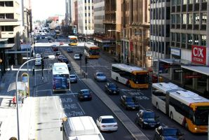 Adelaide CBD bus lanes by ryanthescooterguy