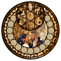 Labyrinth Stained Glass by queentakesjack22
