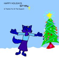 Happy Holidays and Thanx Stars by CyberFox