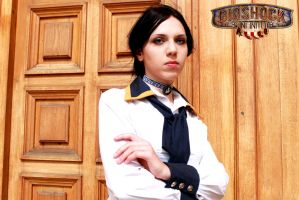 Bioshock Infinite: Elizabeth waiting by SirDomPayne
