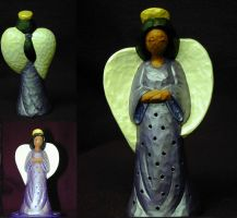 Ceramic Angel - Lighted by blythedragon