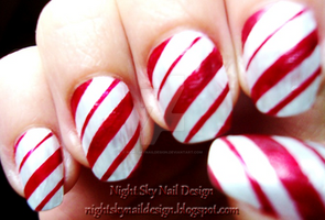 Candy Cane by nightskynaildesign