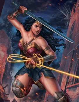 Wonder Woman fan art  for print by BrianFajardo