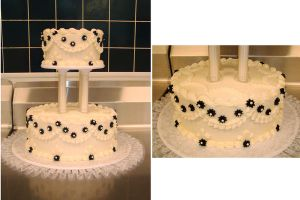 Cream Cheese Wedding Cake by ayarel