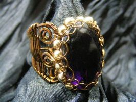 Amethyst Wing Ring by BacktoEarthCreations