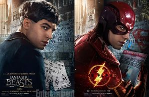 Before and After Ezra Miller Flash by Bryanzap