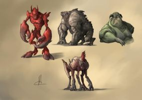 creature concepts by TheBeke