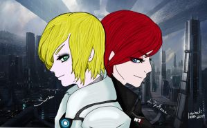 Lily Anne and Sarina Shepard by noisulivone