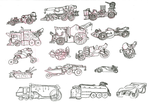 Wastelander Vehicle Concepts by lightningdogs