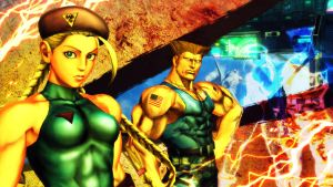 Cammy and Guile- SFxT by Janus3003