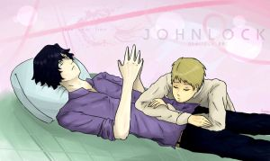 Johnlock ~ Time to Sleep by Reikiwie