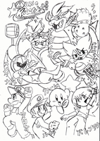 WIP-Group Pic Mario,Kirby,etc by kittyXartist
