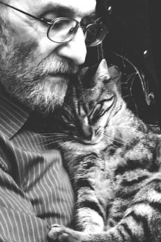 a man with a cat by Su58