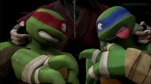 Leo and Raph Get Punished by Mikey-Prankenstine