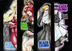 Black Lagoon Bookmarks by SilkSpectreII
