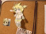 Chibi Len Paper Child by thedrawinghamster